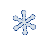 Vector drawing of icy blue snowflake
