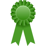 Vector graphics of green rosette