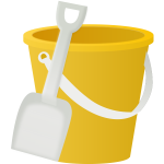 Children's bucket and spade vector clip art