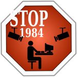 Stop 1984 vector image
