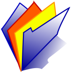 Polaroid folder vector icon