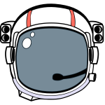 Astronaut helmet vector illustration