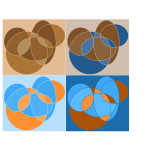 Abstract geometric circle compositions