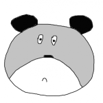 Sad bear gray