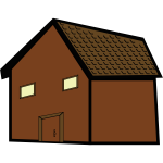 Brown house vector drawing