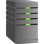 Computer server vector image
