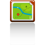 Vector image of direction map icon