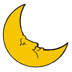 Vector clip art of crescent moon
