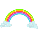 Clouds with rainbow image