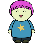 Chubby girl character happy vector image