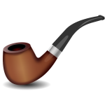 Colored image of smoking pipe