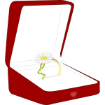 Vector illustration of ring box