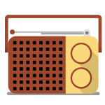 Portable radio receiver vector drawing