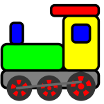 Colorful toy train vector clip art