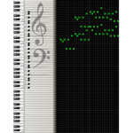 Digital music sheet vector drawing