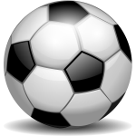 Vector clip art of football ball with reflections