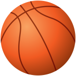 Vector drawing of a basketball ball