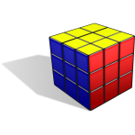 Rubik's cube with shadow vector image