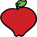 Vector graphics of distorted shape apple