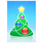 Cartoon Christmas tree vector illustration