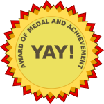 Award of achievement vector clip art