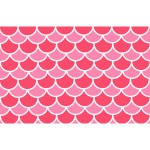 Scallop red pattern