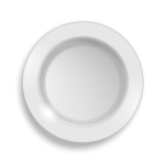 Vector clip art of empty white plate