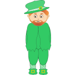 Vector image of St Patrick's day saint