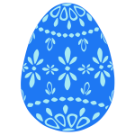Blue lace Easter egg vector image