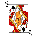 Queen of spades image