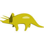 Triceratops vector graphics