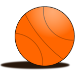 Basketball ball vector drawing