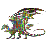 Prismatic Pattern Dragon With Background