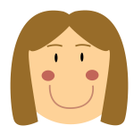 Vector drawing of smiling female avatar