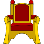 Outlined throne