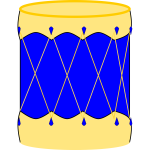 Vector image of bombo drum