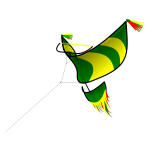 Traditional green kite