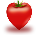 Vector illustration of heart shaped tomato