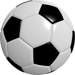 Photorealistic football ball vector image