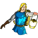Blonde Male Medieval Adventurer with Lantern - Highlights