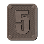 Graphics of metal number five