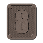 Vector drawing of metal number eight