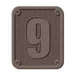 Metal number nine clip art
