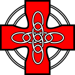 Red Celtic cross vector graphics