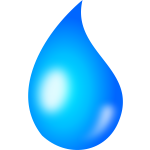 Water drop vector graphics