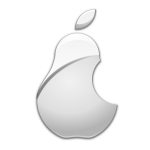 Vector image of apple parody logo