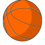 Orange vector image of a photorealistic basketball ball