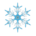 Blue snowflake vector illustration