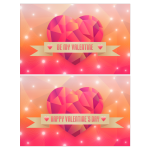 Vector image of color hearts Happy Valentine's Cards