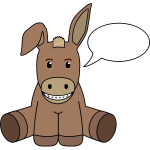 Donkey with speech bubble